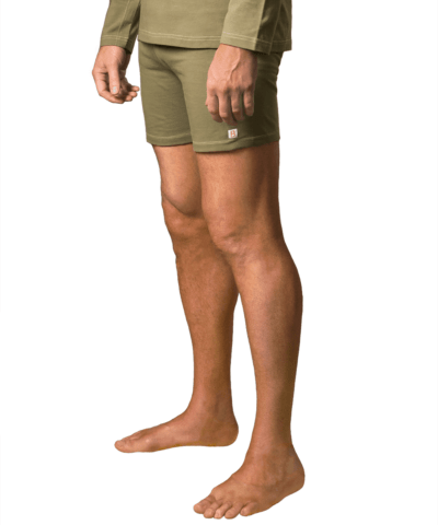 Organic-cotton-clothing-shorts-kam-olive-green-