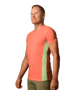 Organic-cotton-clothing-t-shirt-rangeen-coral-red
