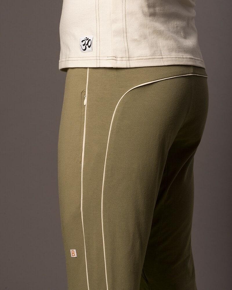 Organic Cotton Retro Sweatpants Doguna Olive Green B