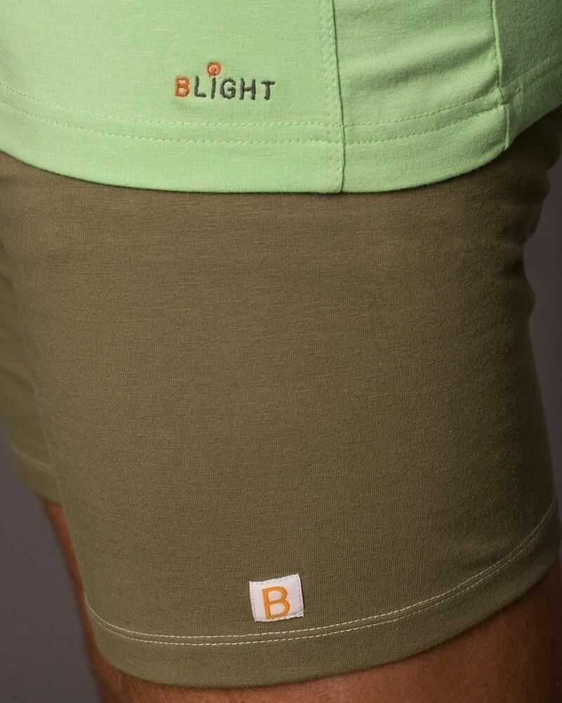 Organic cotton long sleeve t shirt batan arcadian green for Natural cotton t shirts