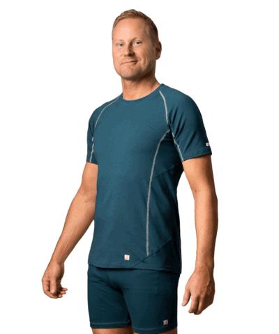 Organic-cottont‑shirt-Manacala –Moroccon-blue-1
