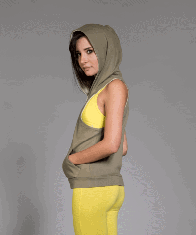 b-light-organic-cotton Hoodie,-Yuva-Olive green