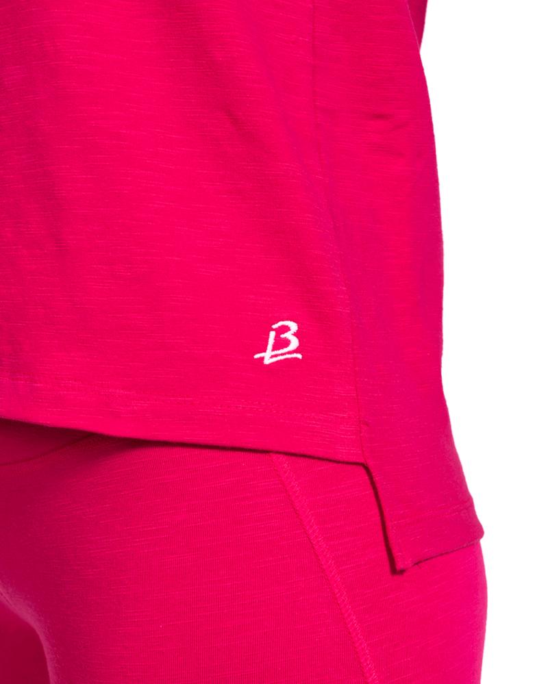 Ekologisk loose fit t-shirt, Peela - Rosa-3