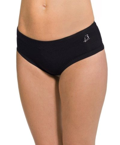 Organic cotton knickers, hipster briefs, Aram – Black