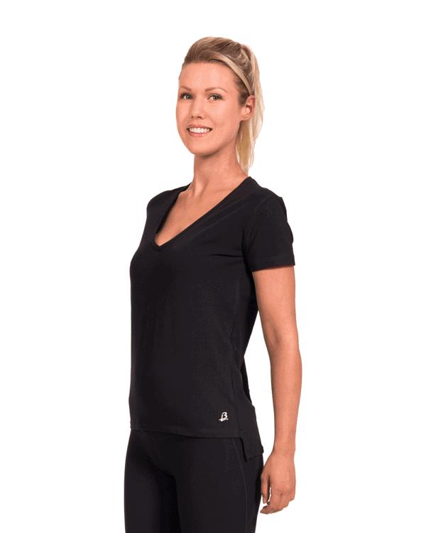 Ekologisk loose fit t-shirt, Peela -black-1
